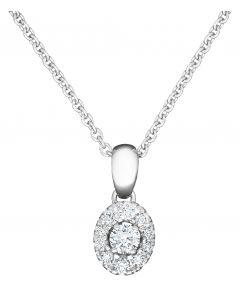 Kohinoor Olivia timanttiriipus 14K valkokulta 123-410V-36