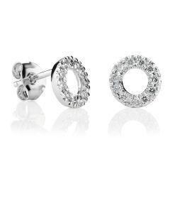 Kohinoor Estelle timanttikorvakorut 14K valkokultaa 143-216-22