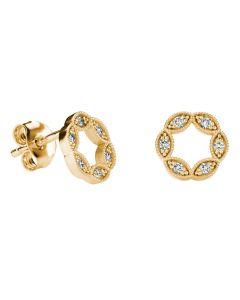 Kohinoor Clara timanttikorvakorut 14K keltakultaa 143-269-10