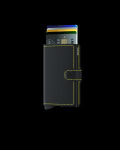 SECRID Miniwallet Matte Black-Yellow