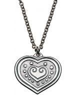 Euran sydän riipus 70cm hopea 2210952